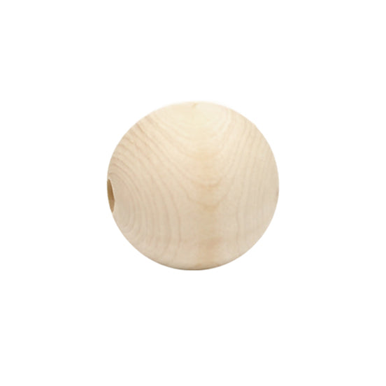 Wooden Macrame Bead - Round Raw 38mm Pack of 2