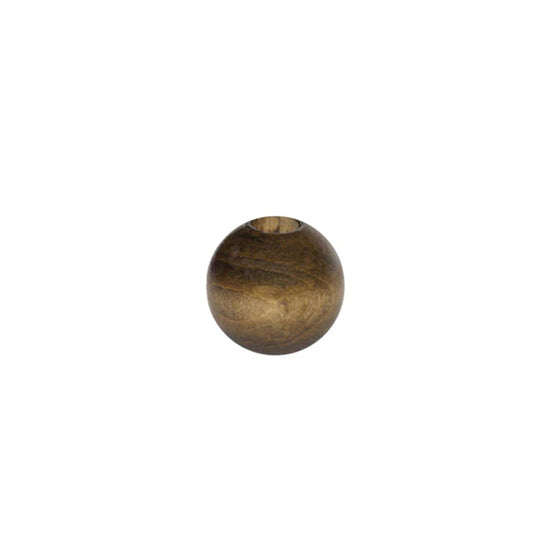 Wooden Bead - Round Walnut 20mm Pack of 8
