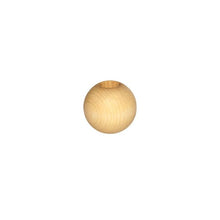 Wooden Bead - Round Natural 20mm Pack of 8