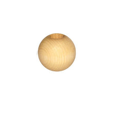 Wooden Bead - Round Natural 25mm Pack of 6