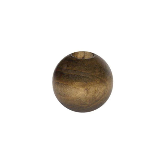 Wooden Bead - Round Walnut 30mm Pack of 2