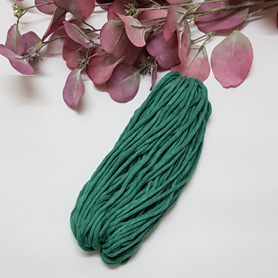 Lil' Luxe Cotton - 5mm Sea Green - 25 metres
