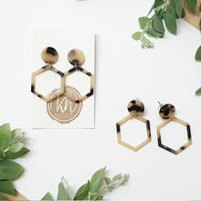 Tortoiseshell Earring Frames - Hexagon