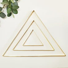 Clearance - DIY Macrame Metallic Wall Frames - Triangle Brass - Set of 3
