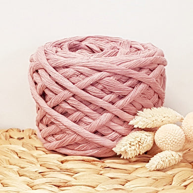 Lil' Luxe Recycled Cotton - 5mm Vintage Pink - 25 metres