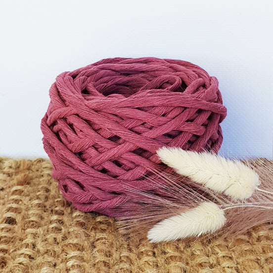 Lil' Luxe Recycled Cotton - 5mm Wilted Rose - 25 metres