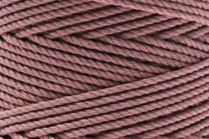 4mm 3 ply Cotton Macrame Rope - Dusty Rose