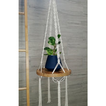 """Shelfie"" - Macrame Hanging Timber Shelf"