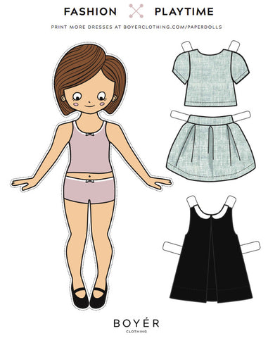 Paperdoll - Blue Crop Top and Skirt