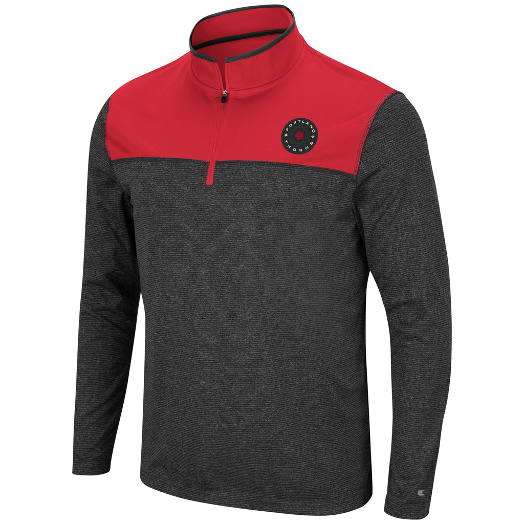 PORTLAND THORNS FC LONG SLEEVE RANGERS 1/4 ZIP WINDSHIRT