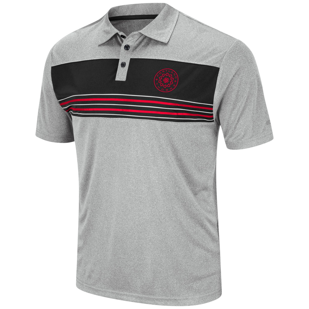 Portland Thorns FC Striped Polo - Grey