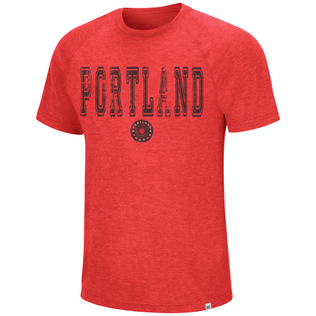 PORTLAND THORNS FC DISTRESSED SHORT SLEEVE TEE