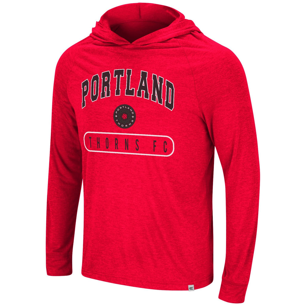 Portland Thorns FC Washed Out Long Sleeve Hooded Tee - Red