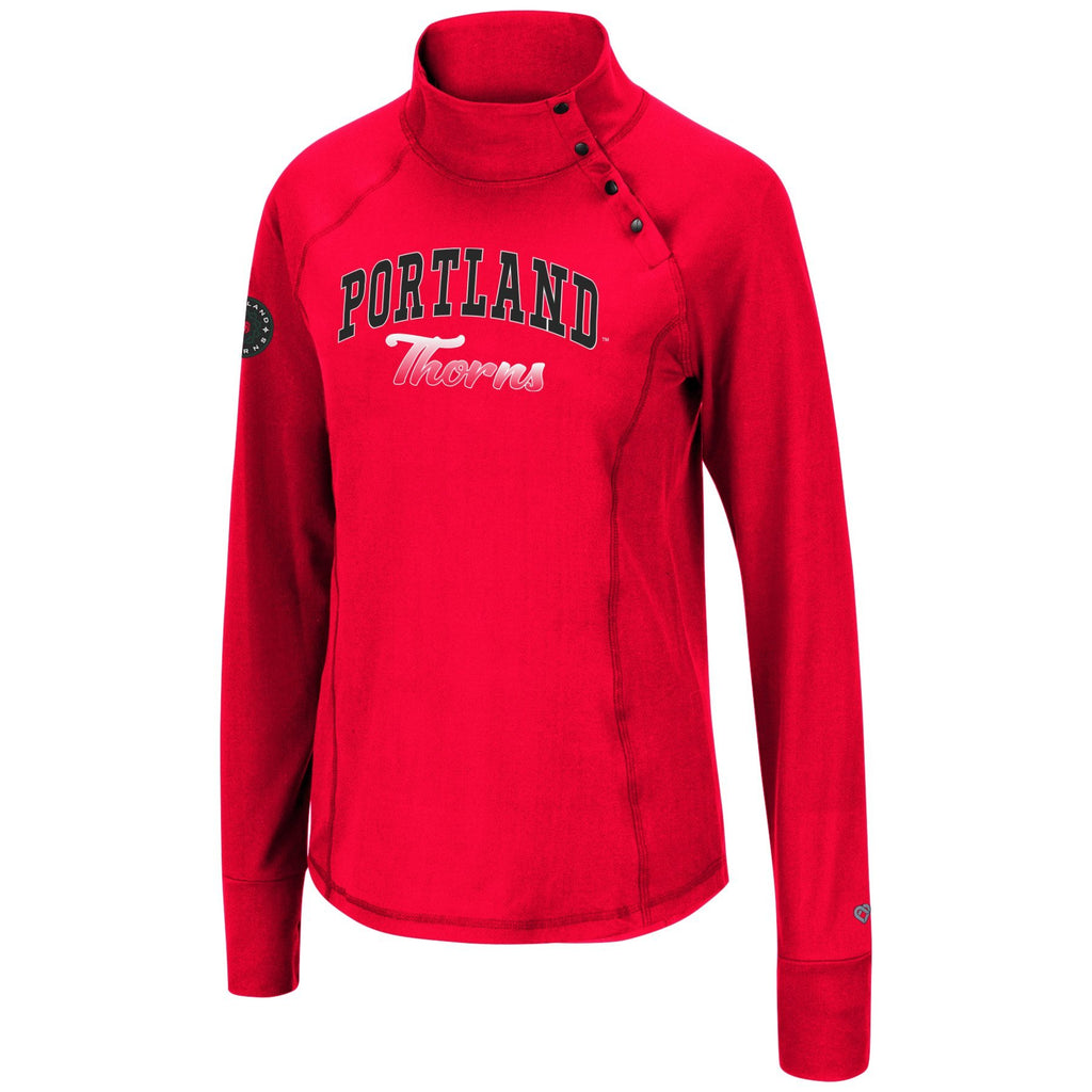 Portland Thorns FC Women's 1/4 Snap Pullover - Red