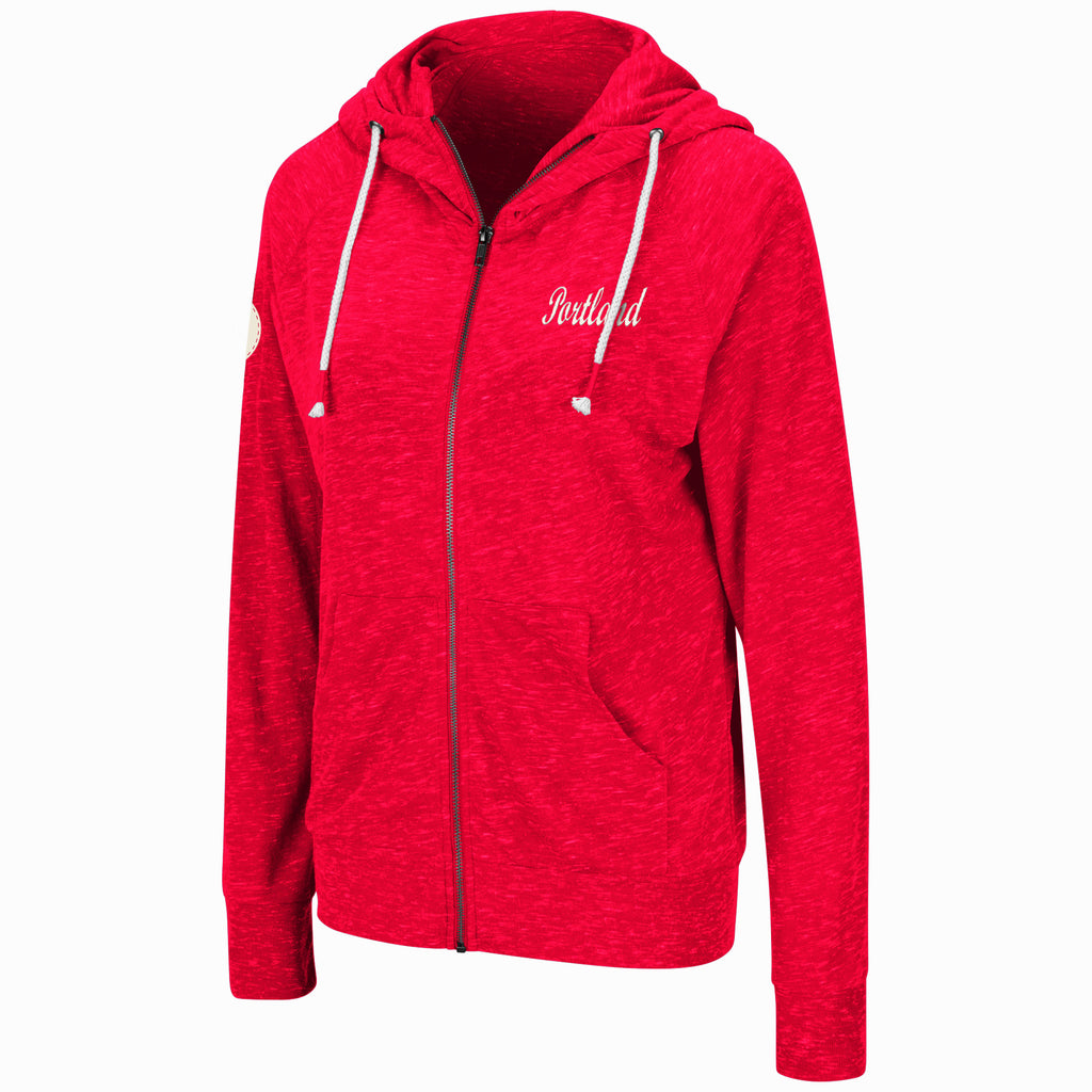 Portland Thorns FC Women's April Full Zip Hoody - Red