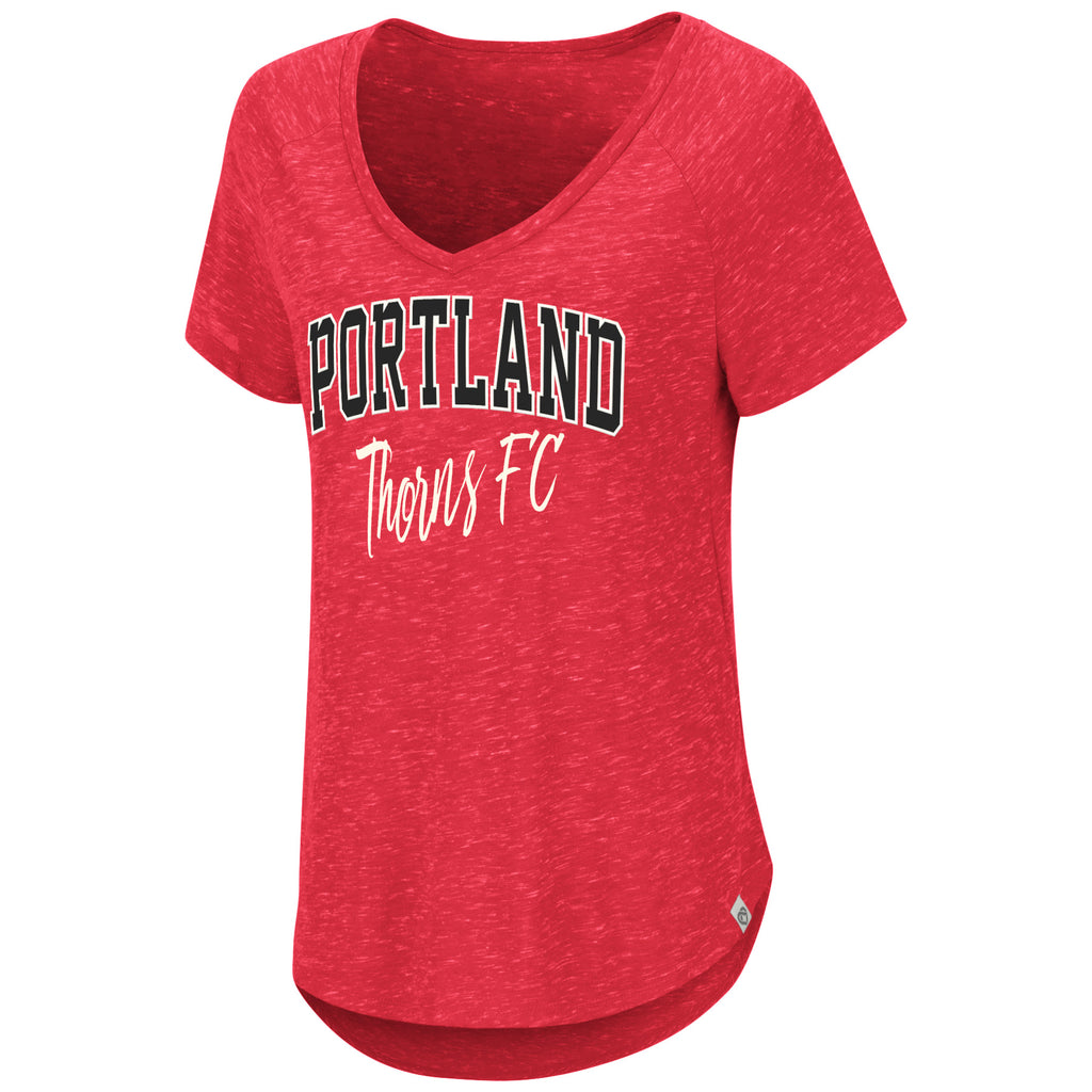 PORTLAND THORNS FC WOMEN'S SPECKLE V-NECK
