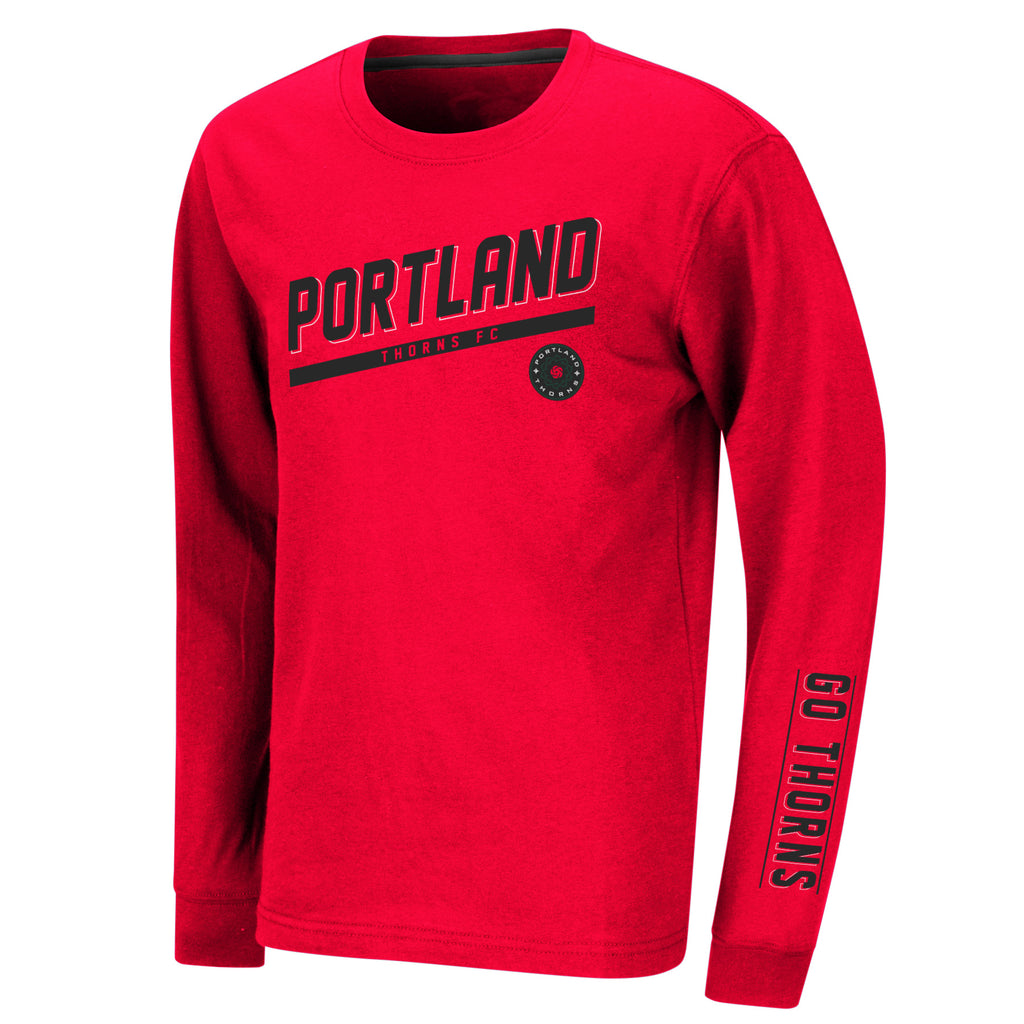 Portland Thorns FC Youth Rockhead Long Sleeve Tee - Red