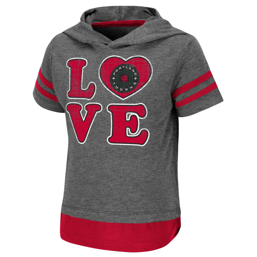 Portland Thorns FC Toddler Short Sleeve Hooded Tee - Grey