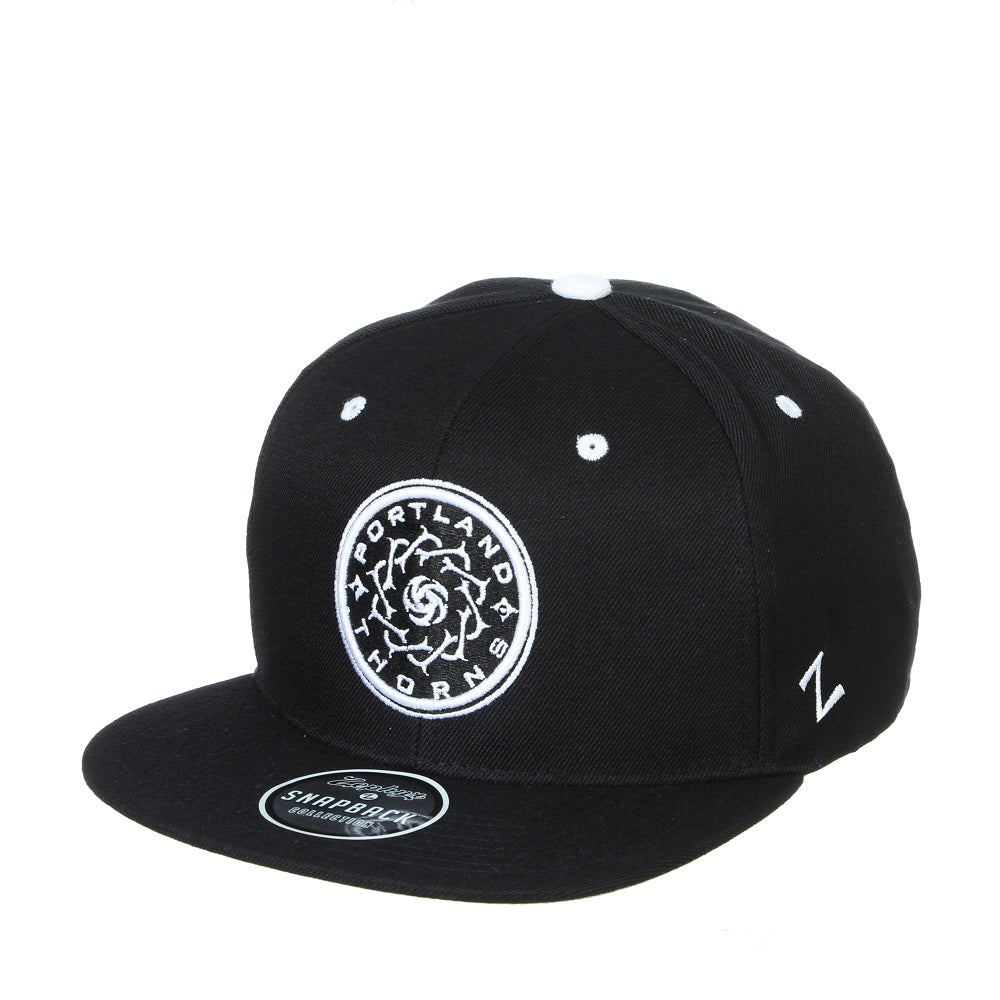 PORTLAND THORNS FC Z11 HIGHLIGHT FLAT BRIM HAT - BLACK