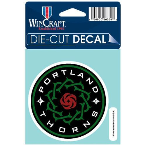 PORTLAND THORNS FC THORNS 4X4 DECAL