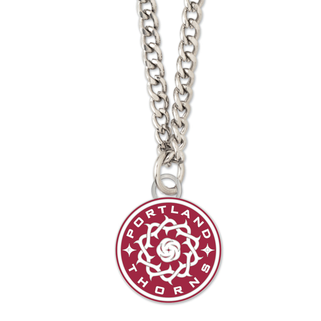 PORTLAND THORNS FC NECKLACE W/ROUND CHARM