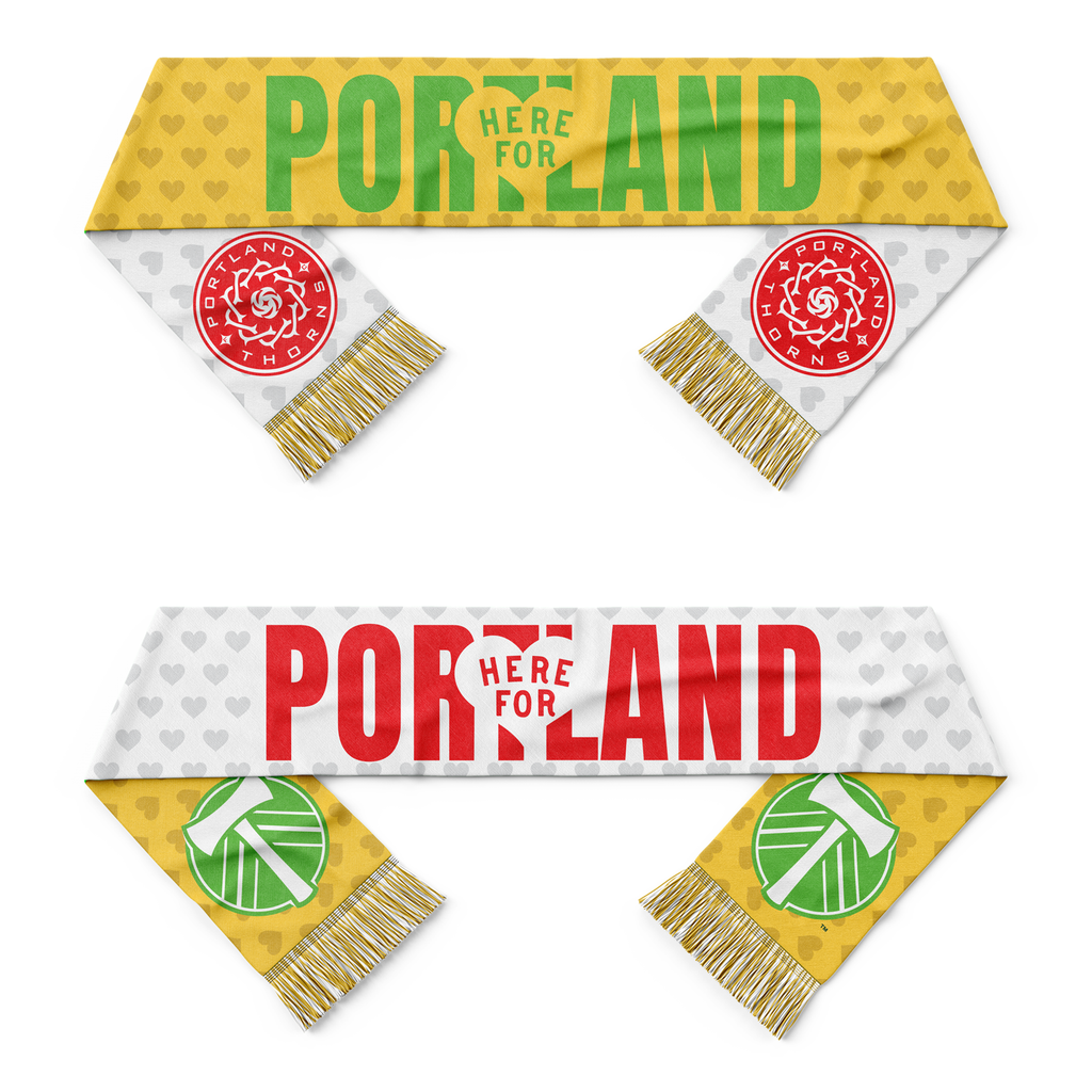 "PORTLAND TIMBERS & THORNS FC ""HERE FOR PORTLAND"" PBA SCARF"