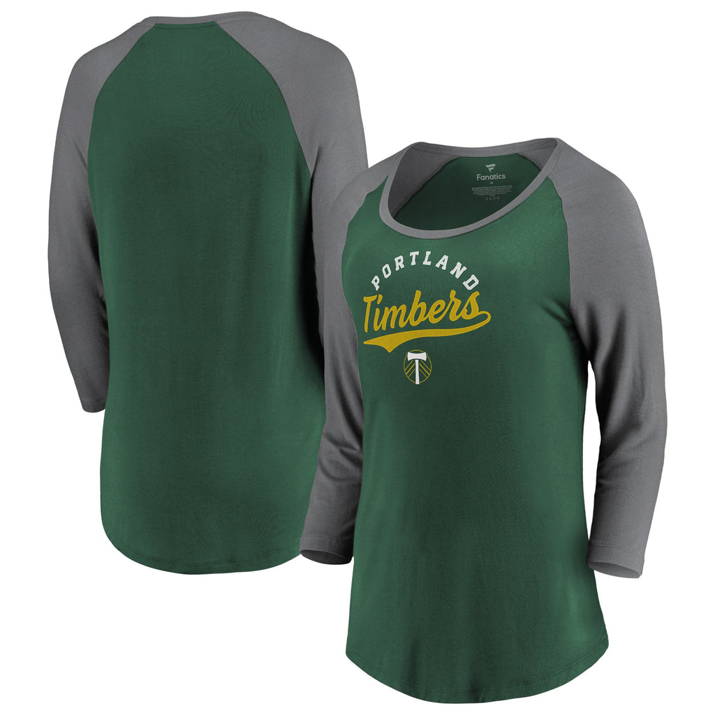 PORTLAND TIMBERS FC WOMEN'S 3/4 DECIDES IT RAGLAN