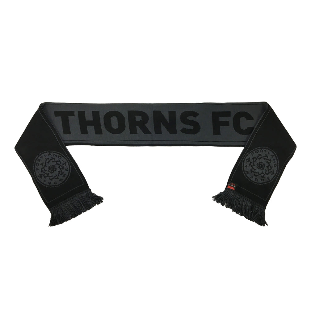 Portland Thorns FC Ruffneck Blackout Scarf - Black/Grey