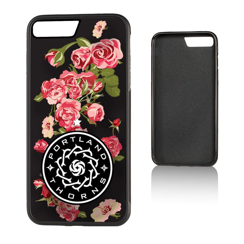 Portland Thorns FC Keyscaper Black Floral iPhone 7 Plus Bump Case