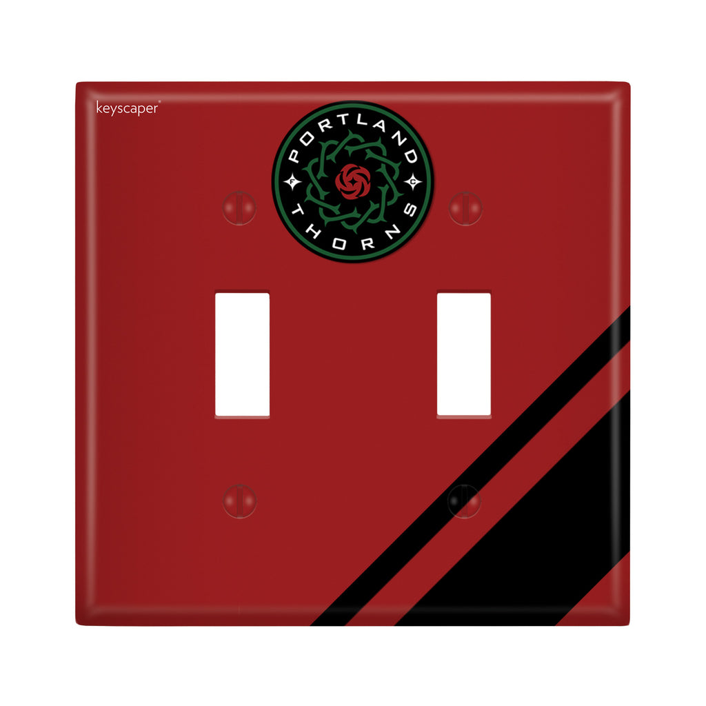 PORTLAND THORNS FC DBL TOGGLE LIGHT PLATE