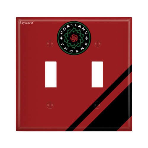 Portland Thorns FC Keyscaper Double Toggle Light Switch Cover