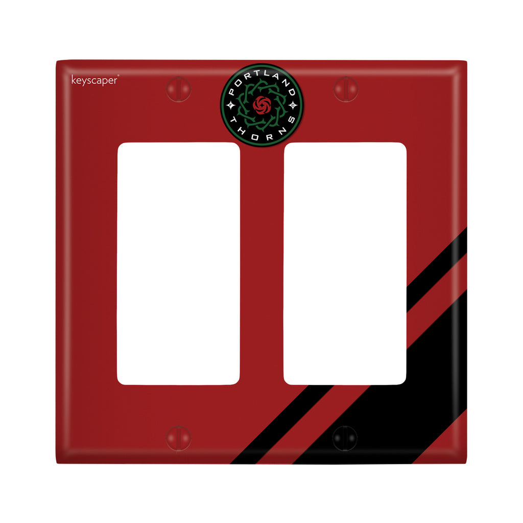 PORTLAND THORNS FC DBL ROCKER LIGHT PLATE