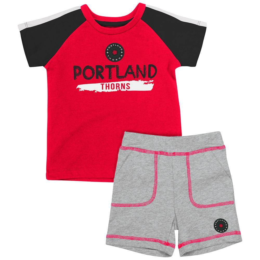 Portland Thorns FC Infant Boys Square Set - Red/Grey
