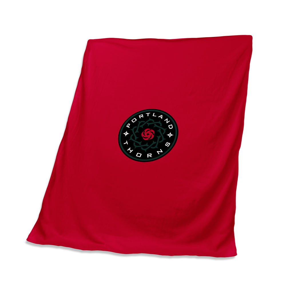 Portland Thorns FC Tackle Twill Logo Sweatshirt Throw Blanket - Red