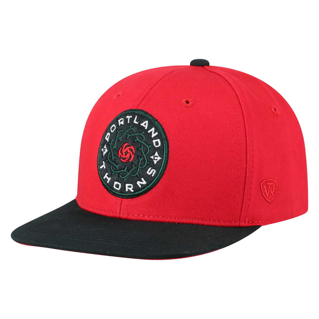 Portland Thorns FC Youth Maverick Flat Brim Snapback - Red
