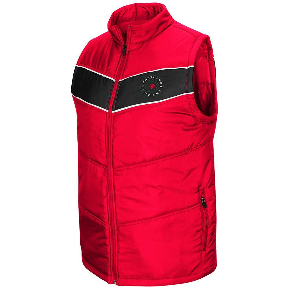 Portland Thorns FC Full Zip Puff Vest - Red
