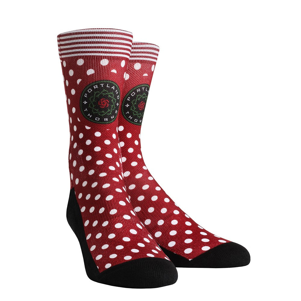 Portland Thorns FC Rock 'Em Apparel Polka Dot Sock - Red