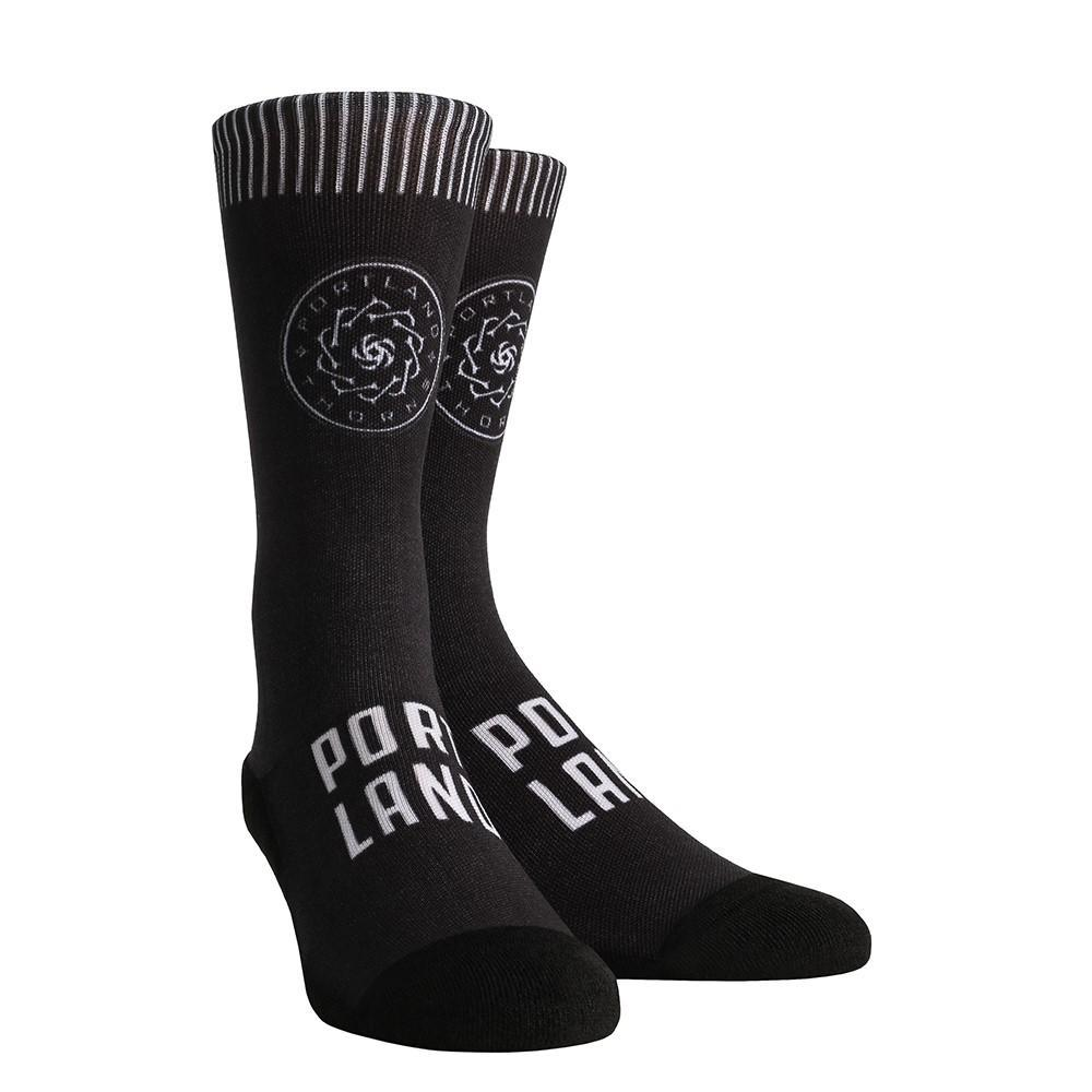 PORTLAND THORNS FC BLACKOUT SOCKS