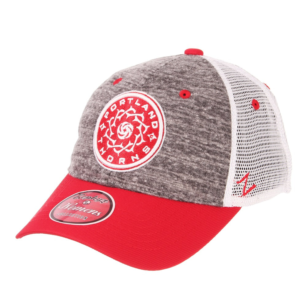 Portland Thorns FC Women's Frequency Mesh Back Cap - Grey/White