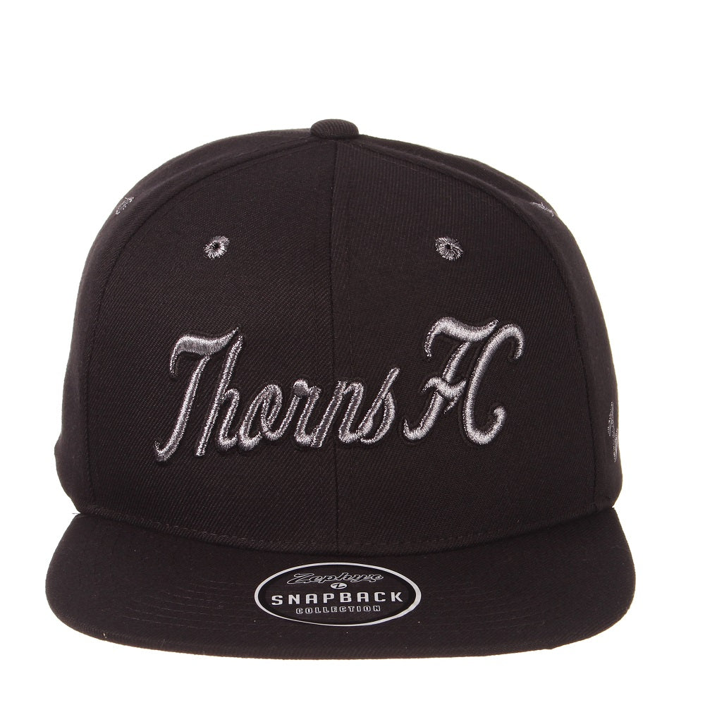PORTLAND THORNS FC Z11 EBONY FLAT BRIM HAT