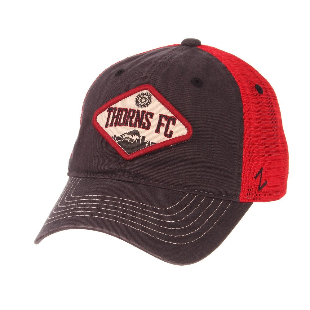 Portland Thorns FC Roadside Mesh Back Cap - Grey/Red