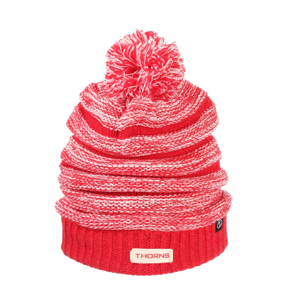 PORTLAND THORNS FC EXPOSURE POM KNIT BEANIE
