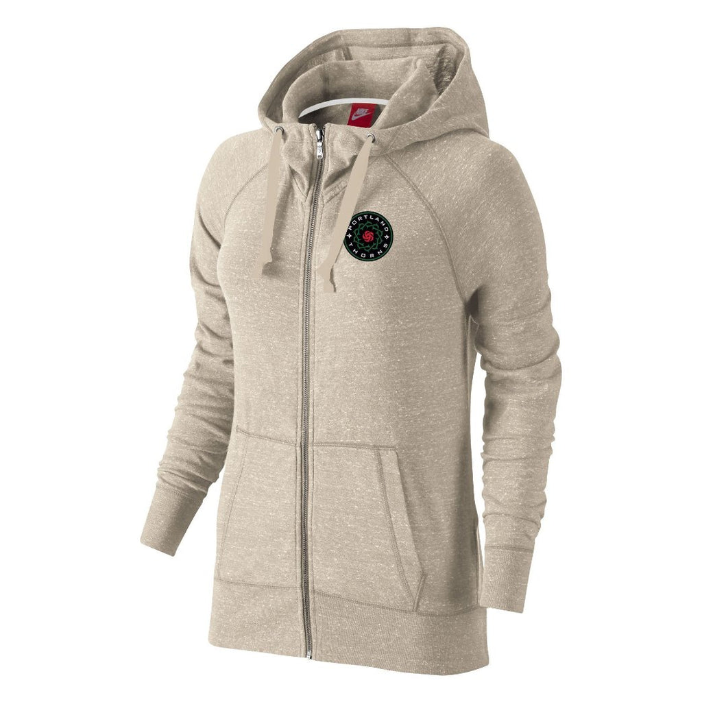 Portland Thorns FC Women's Gym Vintage Full Zip Hoody - Oatmeal