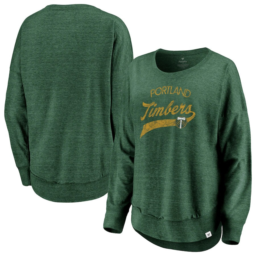 PORTLAND TIMBERS FC WOMEN'S AMAZE LONG SLEEVE PULLOVER TEE