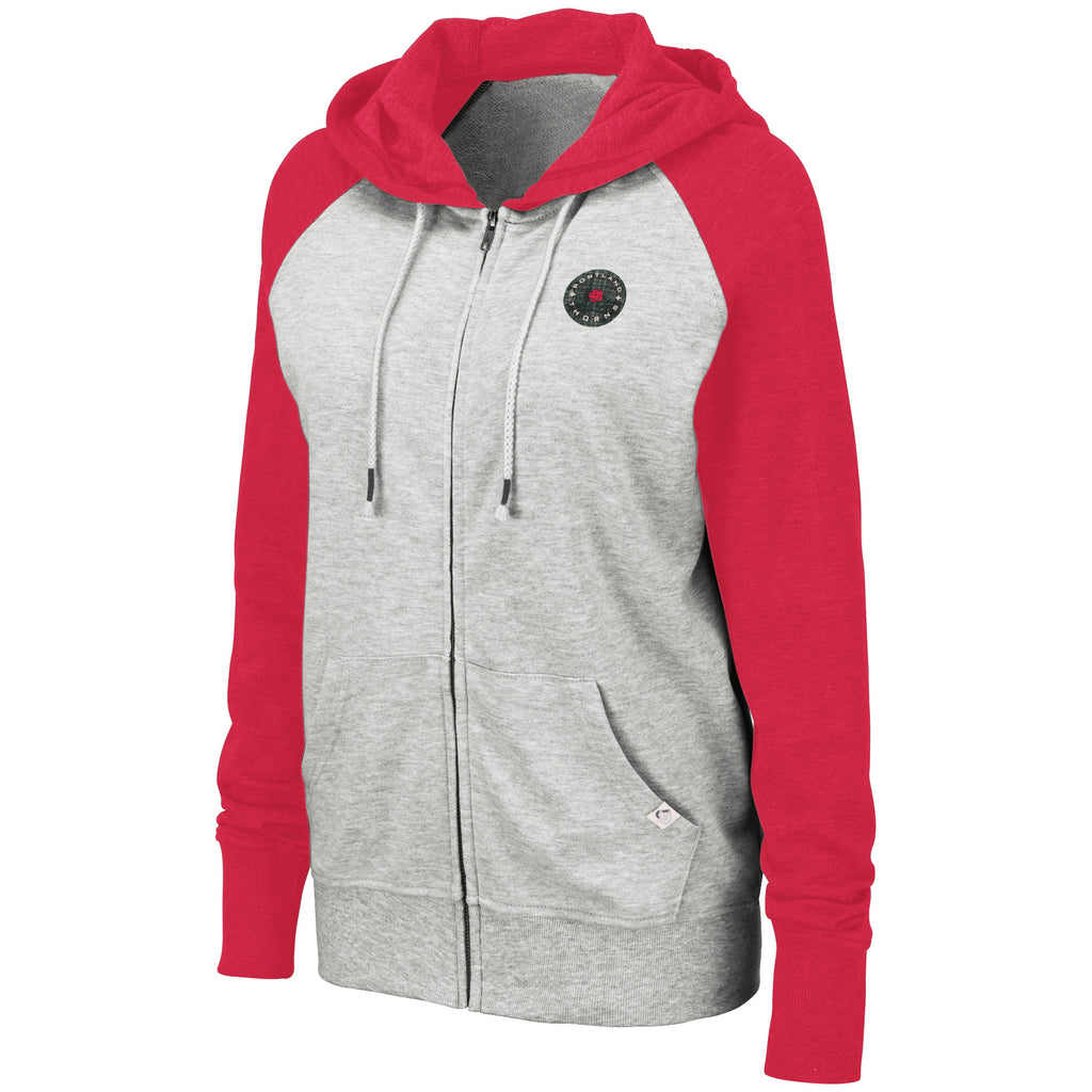 Portland Thorns FC Women's 2-Color Full Zip Hoody - Red