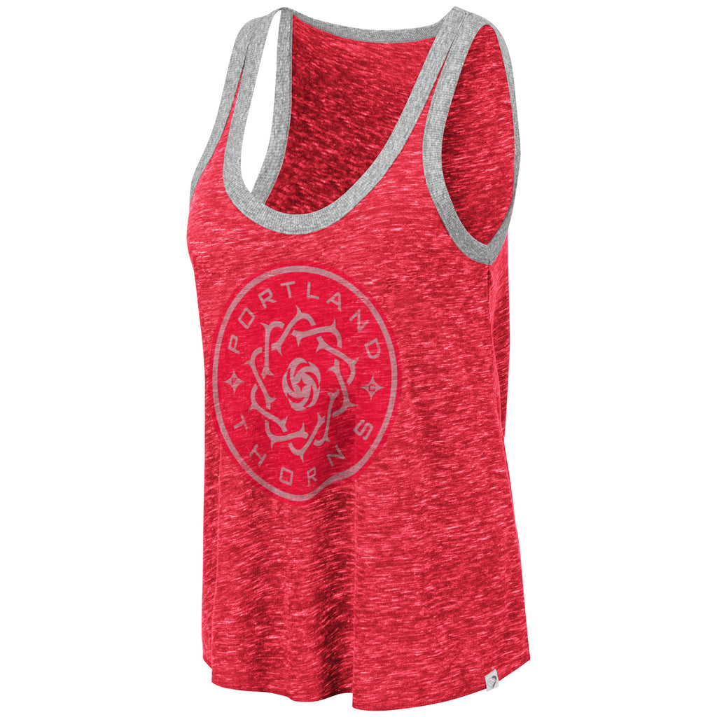 Portland Thorns FC Women's Muscle Ringer Tank - Red - FINAL SALE