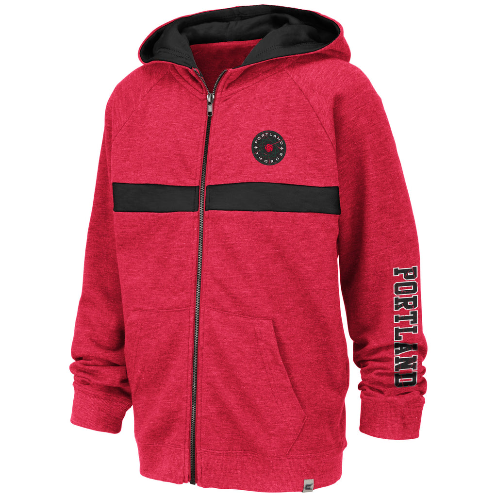 Portland Thorns FC Youth Full Zip Hoody - Red
