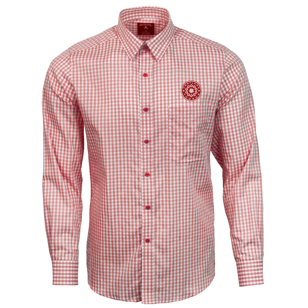 PORTLAND THORNS FC STRUCTURE  LONG SLEEVE WOVEN SHIRT