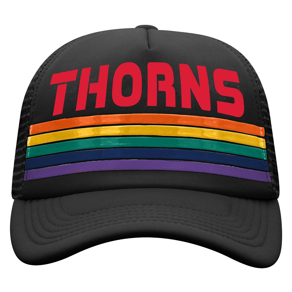 Portland Thorns Pride Wipeout Hat - Black