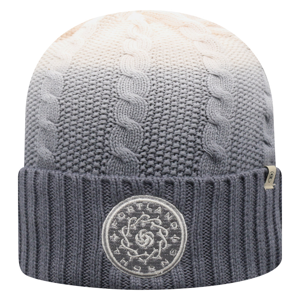 PORTLAND THORNS FC DISSOLVE GREY POM KNIT BEANIE